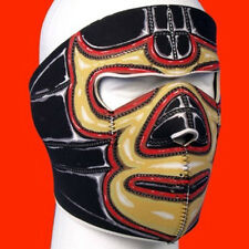 El Loco Mexican Wrestler Full Face Neoprene Mask Biker ATV Ski Reversable Black