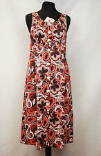 Vintage Vitos Original 70s Pinafore Mod Shift Paisley and Floral Dress  NEW