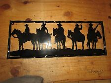 Cowboys On Horses With Fram Wall Art Western Rustic Cabin Home Decor Horse