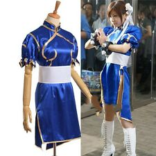 Street Fighter Chun Li Cosplay Costume Blue Custom Made