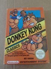 NINTENDO NES DONKEY KONG CLASSICS COMPLETE V NICE PAL A FREE UK POSTAGE