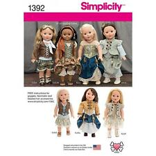 "SIMPLICITY SEWING PATTERN Steam punk Costume for 18"" Doll 1392"