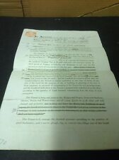 Staffordshire Old Document, Leek, Let, Horse Pasture Nr Pickwood W. Challinor