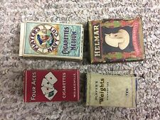 4 empty cigarette pack lot  US 1900's - ww2 era british pack  lot