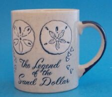 "THE LEGEND OF THE SAND DOLLAR MUG 3-3/4"" TALL"