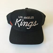 VTG LOS ANGELES KINGS SINGLE LINE SCRIPT SNAPBACK HAT CAP SPORTS SPECIALTIES NWA