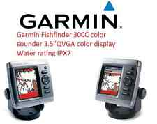 "Garmin Fishfinder 300C sounder GPS 3.5""QVGA color display Water rating IPX7"