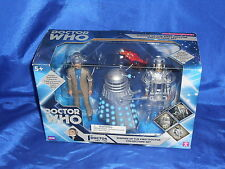 Doctor Who Cyberman Dalek Roboman Enemies 1st Doctor Set Character Sealed 2010