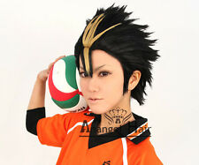 Free Hair Cap+Haikyu!! Haikyuu!! Nishinoya Yuu Cosplay Wig Cosplay Convention