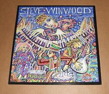 Steve Winwood About Time 2003 Promo Double Sided Flat Square Poster 12 x 12