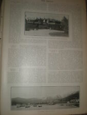 Printed photo Czar holiday home Livadia Yalta and general view Crimea 1902 ref Z