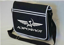Aeroflot Retro USSR Soviet flight MESSENGER SHOULDER BAG SCHOOL COLLEGE