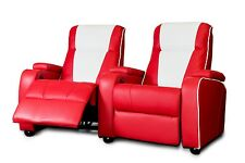 L'original metro rétro film chaise home theatre cinema places canapé rouge double