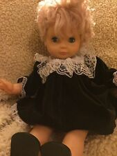 "Vintage 18"" Goldberger Doll with Black Velvet Dress"