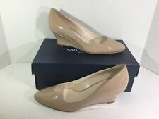 Cole Haan Lena Wedge Womens Cream Leather Heels Size 7 B ZA-986