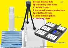 11 pc CLEANING KIT CARD CASE TRIPOD for SONY DSC-H300 HX100 HX200 HX300 H200 HX1
