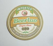 "LAOS Beer Mat Coaster BEER LAO Imported Vietnam 2014 LBC  4"" Asia Collect RARE"