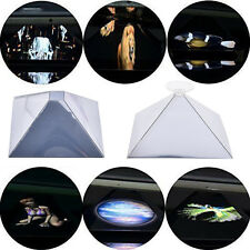 Maxbo Chromed Pyramid Mirror Reflective Holographic Projector 3D Video Toy FT