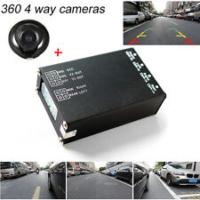360 View Car Camera+4 Way Cameras Switch System For Rear Left Right Front Camera
