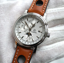 Mercedes Benz Men`s Women`s Watch Automatic Movement with Sinn Leather Band