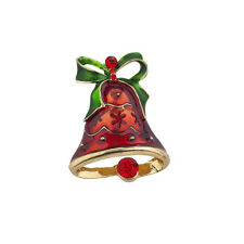 Lux Accessories Christmas Holiday Xmas Church Bells Brooch Pin