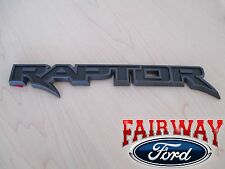 17 F-150 OEM Genuine Ford Parts RAPTOR Black Tail Gate Emblem Nameplate Trim NEW