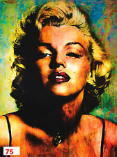 Marilyn Monroe Pop Art Abstract Metal Painting Giclee Contemporary Wall Decor