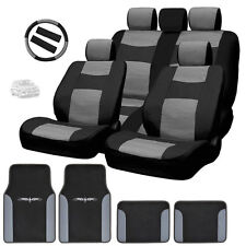New Semi Custom Syn Leather Seat Covers Split Seat Vinyl Mats BG Set For VW