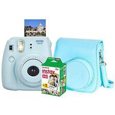 FujiFilm Instax Mini 8 Camera, Blue - with Instant Film and case