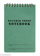 notebook waterproof writing paper all weather olive 48 sheets fox outdoor 39-040