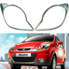 Chrome Headlight Lamp Molding Trim Cover for 05-09 Chevrolet Matiz w/Tracking No