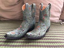 MINT Old Gringo Dragon Fly Ankle Boots Aqua Size 8.5 B