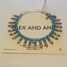 ALEX AND ANI SPIKE OF CONFIDENCE AZURE BANGLE IN  RUSSIAN SILVER ! BRAND NWT!