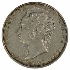 1882H Newfoundland 50 cent Half Dollar - ICCS VF20 - See Photos
