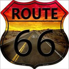 SUPERBE PLAQUE DECORATIVE US ROUTE 66-SUNSET - DECORATION USA / BIKER