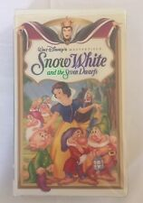Disney Snow White and the Seven Dwarfs VHS 1994 Masterpiece Collection