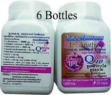6 X IPLGLUTATHIONE 1500 mg. CO Q10 VITAMIN C COLLAGEN ANTI-AGING-180 CAPSULES