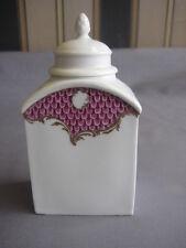 Meissen Teedose Purpur Malerei