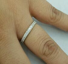 .40 carat 10k Yellow Gold semi eternity Wedding Band S 5 6 7