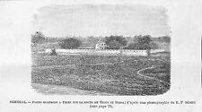 SENEGAL POSTE MILITAIRE DE THIES GRAVURE ENGRAVING 1899