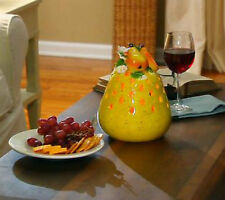 (2) Table Decor Pear Luminary with Flameless Candle And Timer Qvc H199012