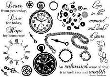 Creative Expressions u Monte Sellos el tiempo vuela la cara del reloj Cadena aprender vivir esperanza