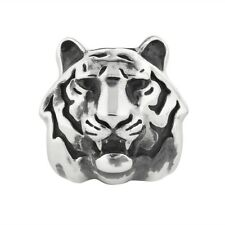 Tiger Charm Rebeligion Silber für Leder Armband Black Rock Large Bead Tigerkopf