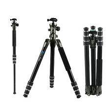 BONFOTO B671A Professional Aluminum Tripod Monopod Ball head For DSLR Camera