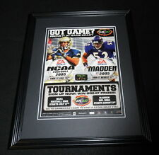 NCAA Football / Madden 2005 PS2 Framed 11x14 ORIGINAL Vintage Advertisement