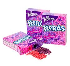 SIX BOXES WILLY WONKA NERDS GRAPE & STRAWBERRY SUGAR CANDY 6 x 1.65 OZ