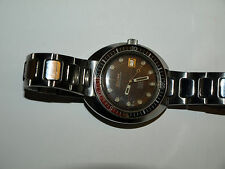 Bulova Oceanographer 200 meter automatic divers 1971 Snorkel stainless w/ date!