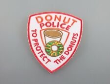 Embroidered Patch Iron Sew Logo DONUT POLICE food funny