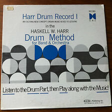 SEALED Haskell W Harr Drum Record 1 Vinyl LP Drum Method Instructional Lessons