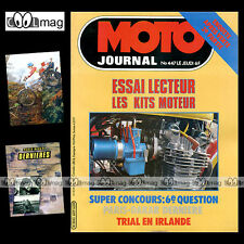 MOTO JOURNAL N°447 Road test YAMAHA DT 125 MX DTMX YAMSUKA Kits Moteurs DAKAR 80